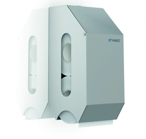 Dispenser hartie igienica rola normala dublu din inox