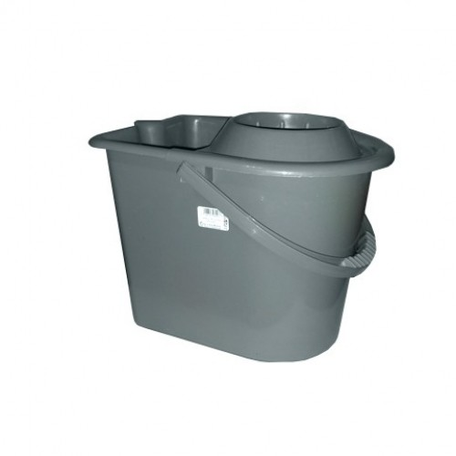 Galeata semiovala cu storcator si roti 14 litri
