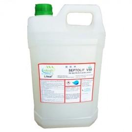 Gel dezinfectant pentru maini cu glicerina si alcool Septolit 5 litrii