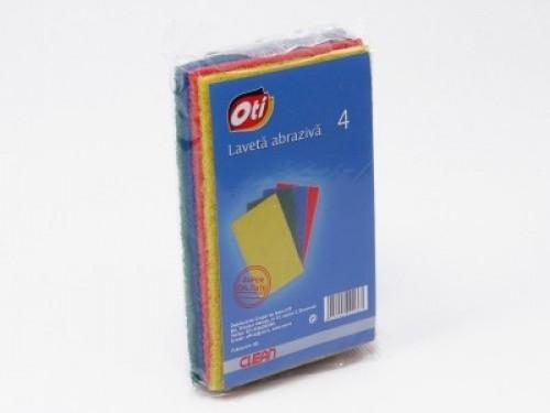 Lavete abrazive colorate 4 buc/set