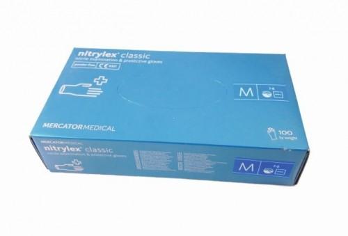 Manusi nitril nepudrate Nitrylex marimea M
