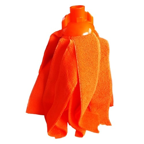 Mop microfibra portocaliu