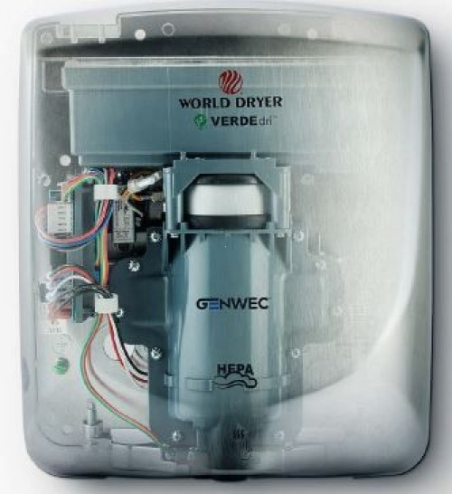 Usactor de maini VERDEdri World Dryer Black