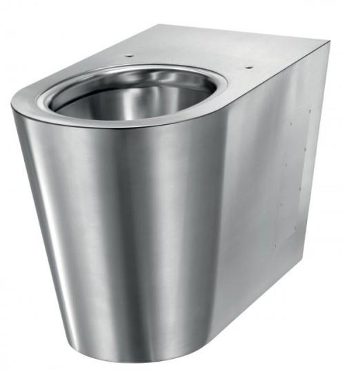 Vas WC antivandalism din inox, montaj pardoseala, Delabie