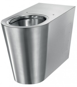 Vas WC din inox bacteriostatic, model oval