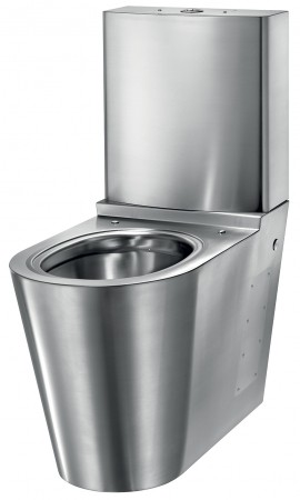 Vas WC monobloc cu rezervor - din inox bacteriostatic